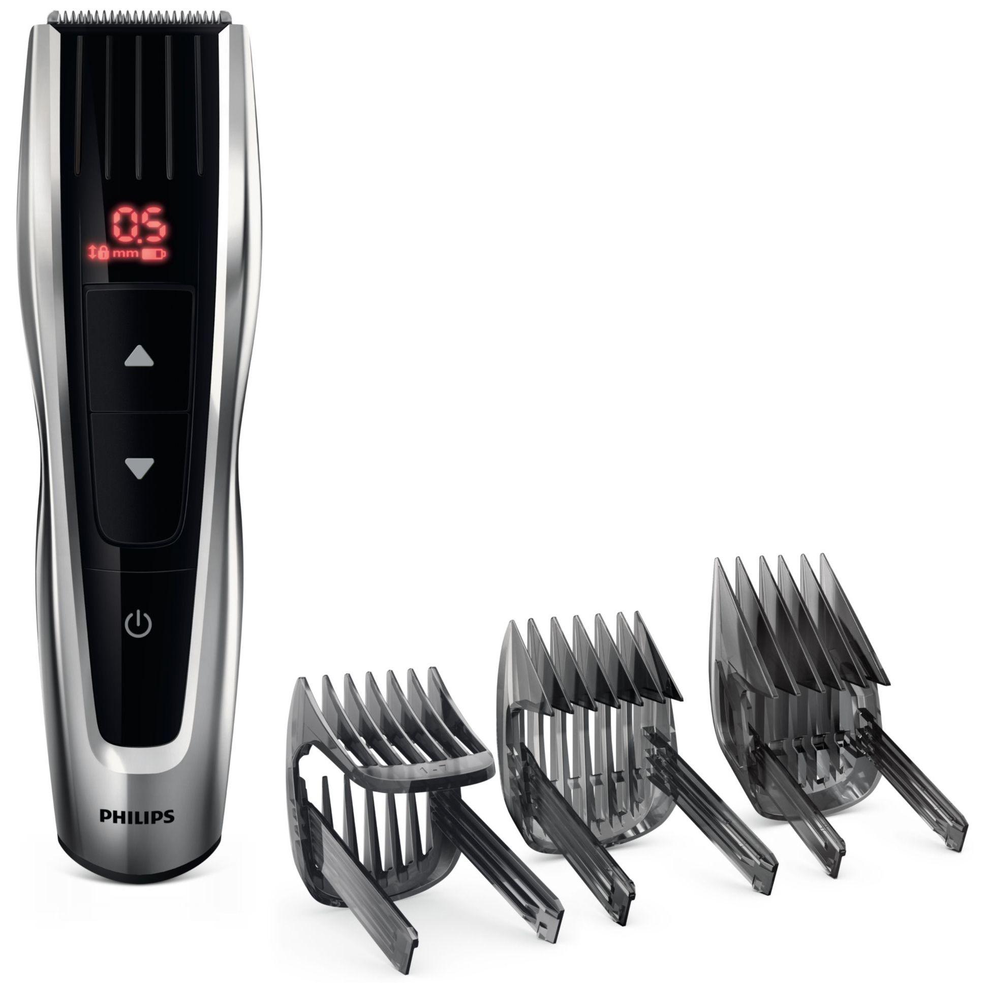 Aparat de tuns Philips Hairclipper series 7000 60 trepte Negru-argintiu