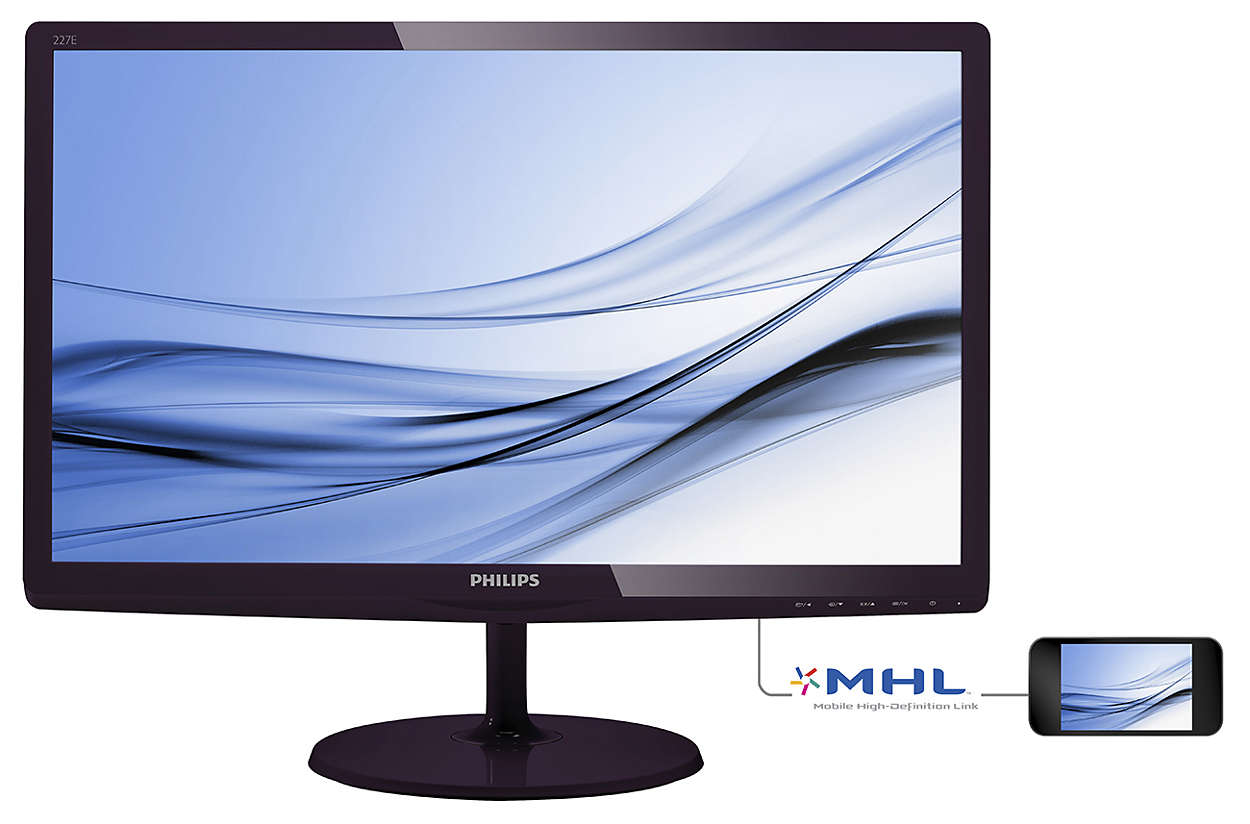 Monitor LED Philips E-Line 227E6EDSD 22 5ms 16:9 Full HD VGA DVI-D MHL-HDMI Negru