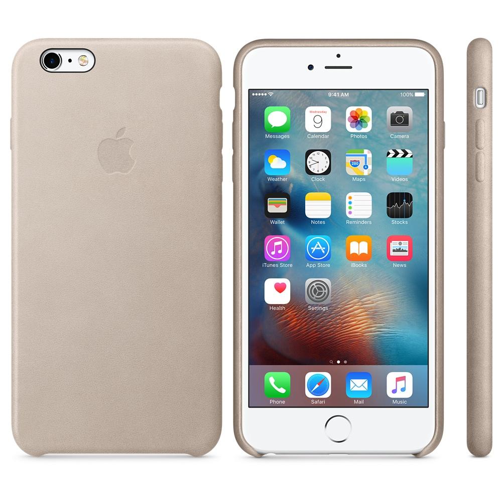 Husa Apple Leather Case pentru iPhone 6s Plus Gri Rose