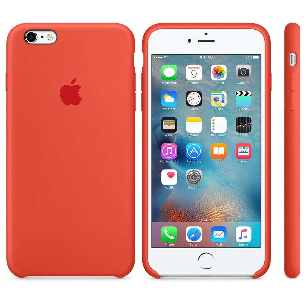 Husa Apple Silicone Case pentru iPhone 6s Plus Orange