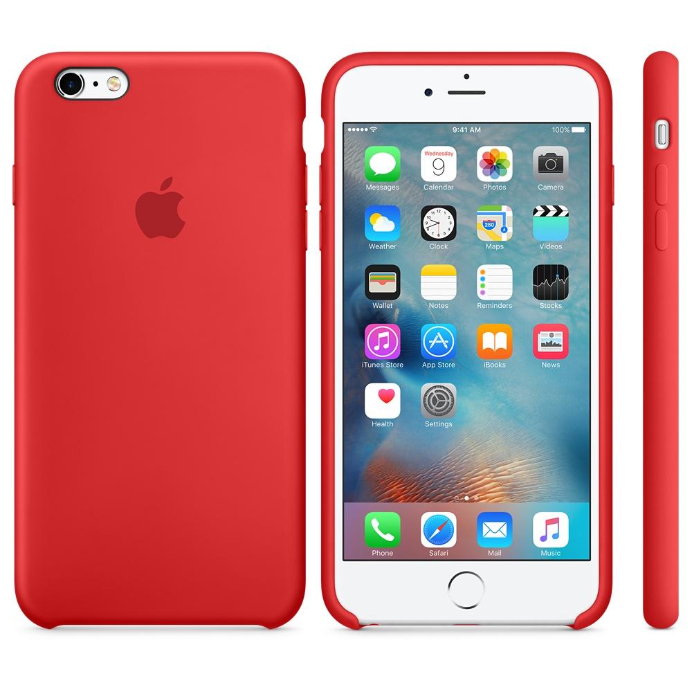 Husa Apple Silicone Case pentru iPhone 6s Plus Rosu