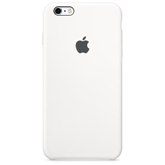 Husa Apple Silicone Case pentru iPhone 6s Plus Alb
