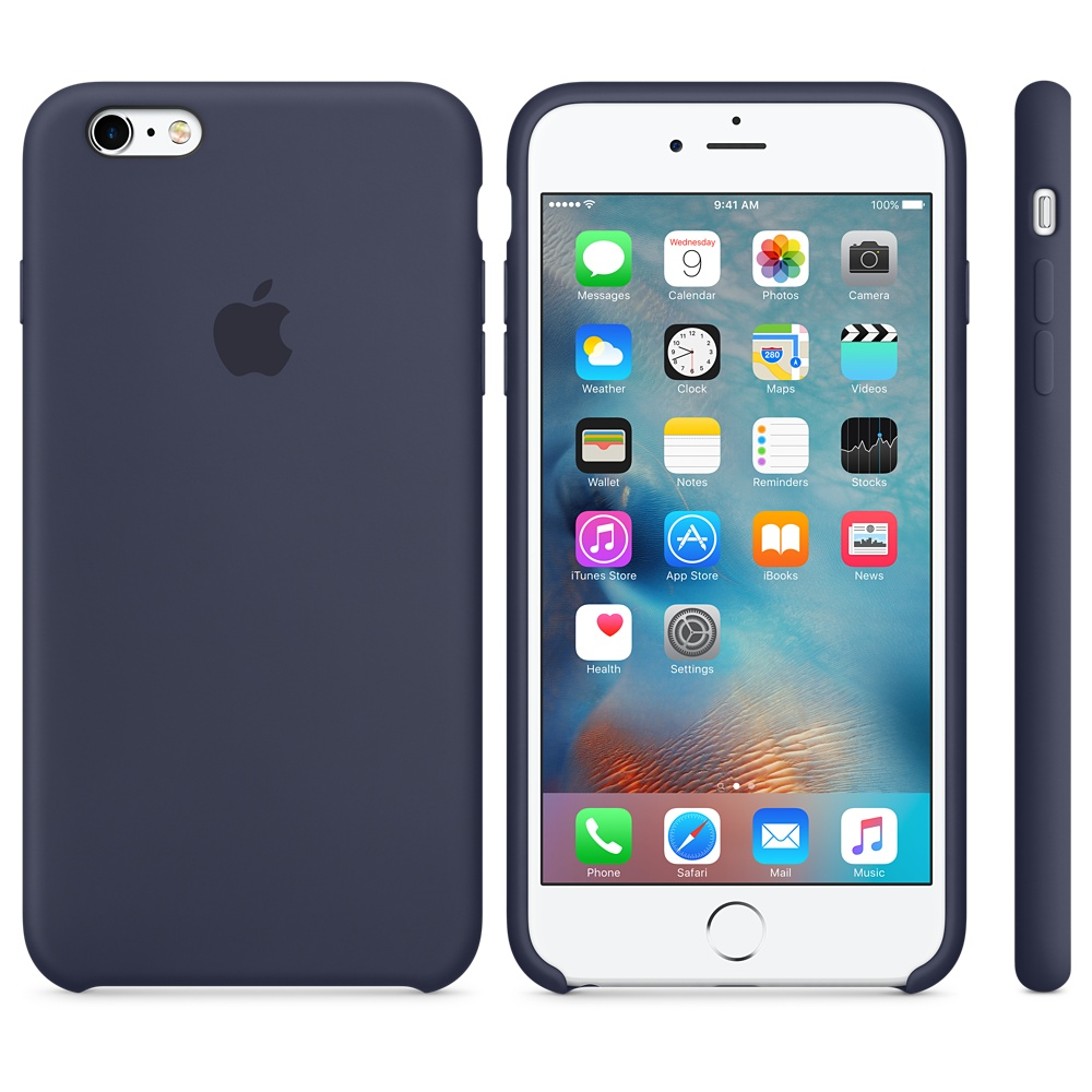 Husa Apple Silicone Case pentru iPhone 6s Plus Albastru Midnight