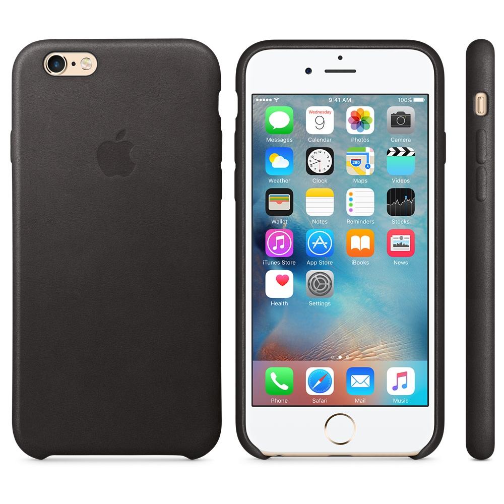 Husa Apple Leather Case pentru iPhone 6s Negru