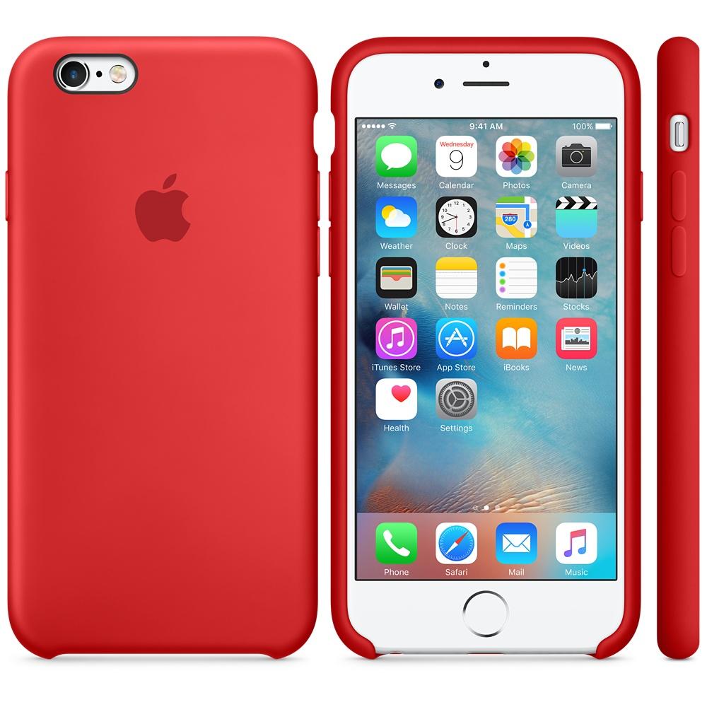 Husa Apple Silicone Case pentru iPhone 6s Rosu