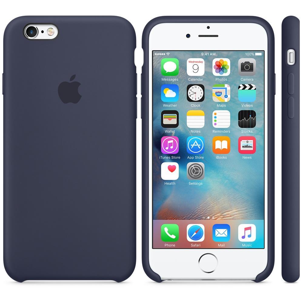 Husa Apple Silicone Case pentru iPhone 6s Albastru Midnight