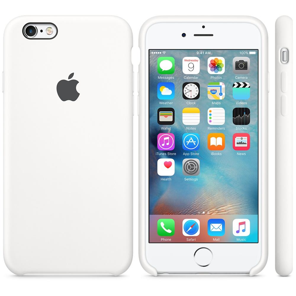 Husa Apple Silicone Case pentru iPhone 6s Alb