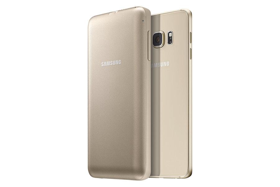 Husa de protectie Wireless Pack pentru Galaxy S6 Edge Plus Auriu
