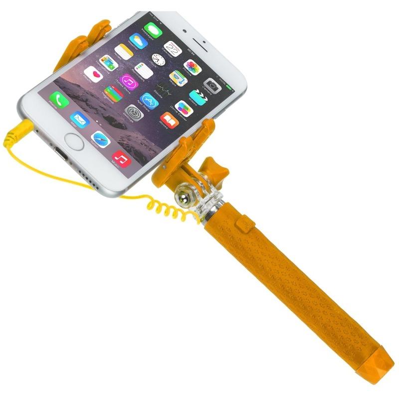 Selfie Stick KitVision KVPKSSWOR Pocket conectare Jack Orange
