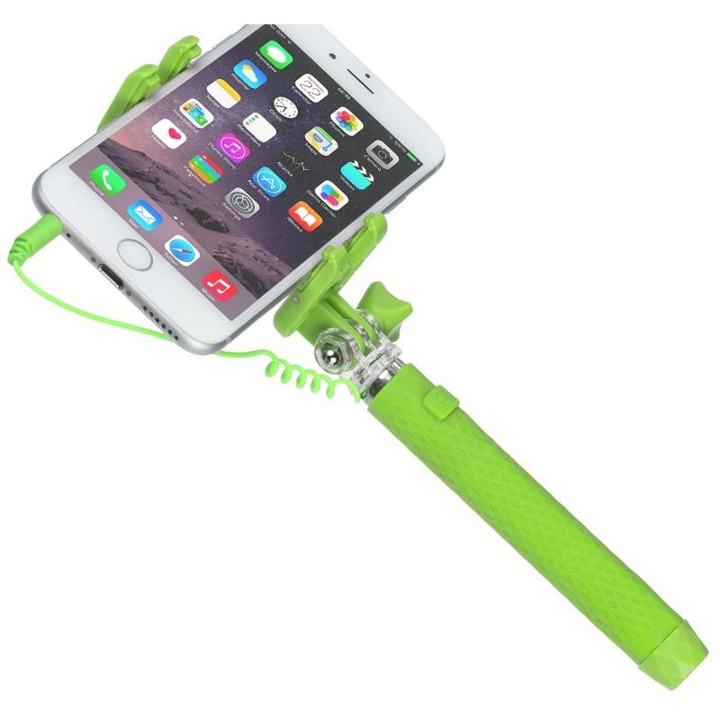 Selfie Stick KitVision KVPKSSWGN Pocket conectare Jack Verde
