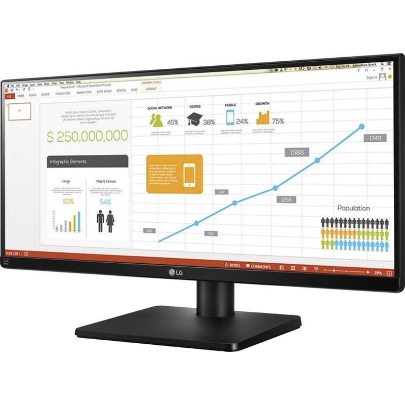 Monitor LED LG 29UB67-B 29 5ms 21:9 HDMI USB DisplayPort DVI Negru