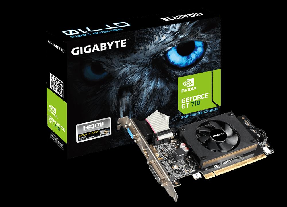 Placa Video Gigabyte nVidia GeForce GT 710 2GB DDR3 64 biti