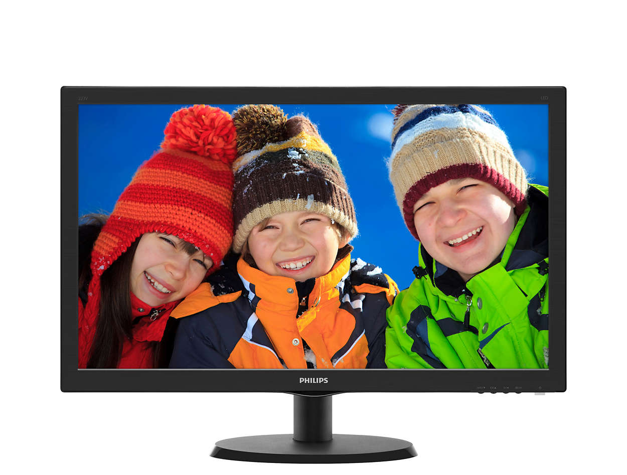 Monitor LED Philips V-Line 223V5LHSB2 21.5 5ms 16:9 Full HD HDMI VGA Negru