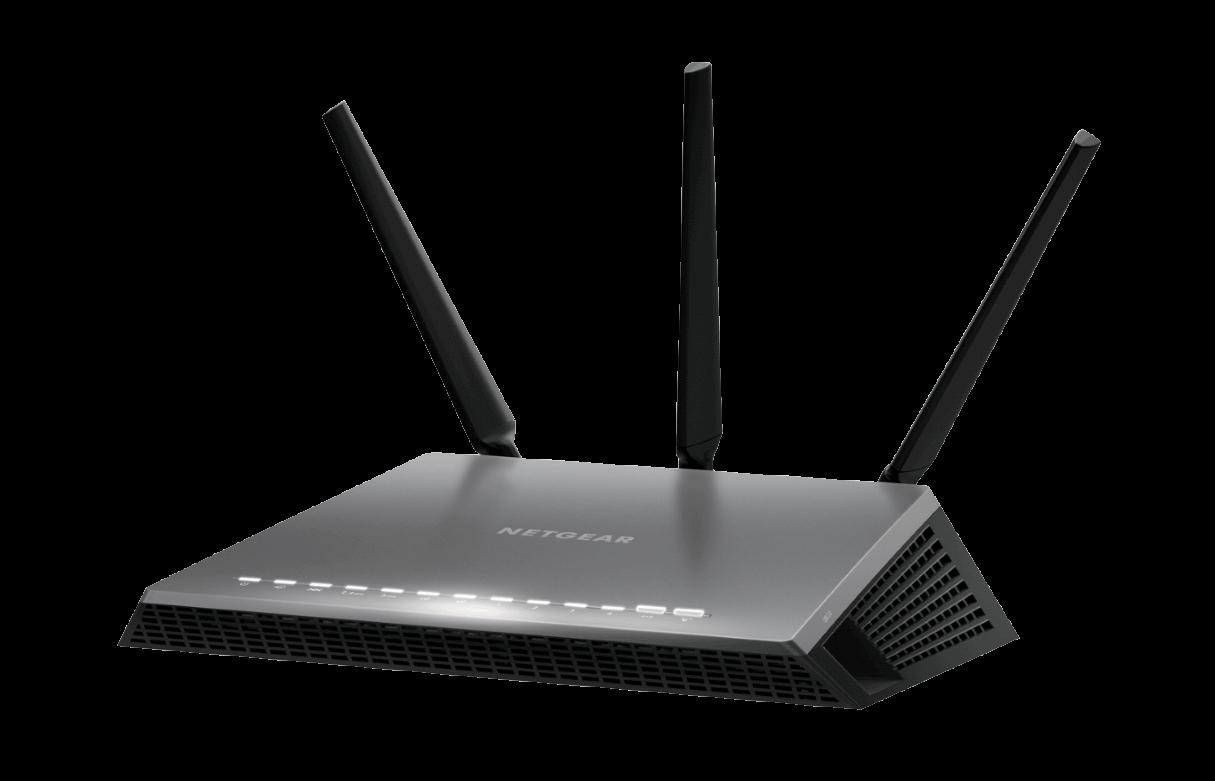 Router Netgear D7000 WAN: 1xGigabit + 1xADSL WiFi: 802.11ac-1900Mbps