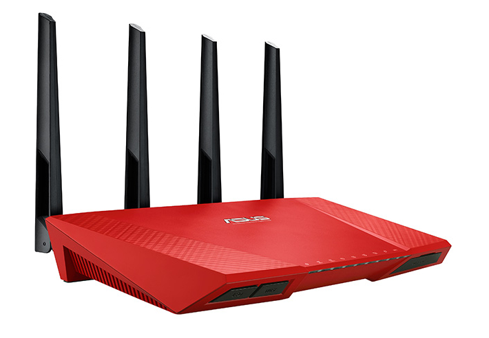 Router ASUS RT-AC87U RED WAN: 1xGigabit WiFi: 802.11ac-2400Mbps