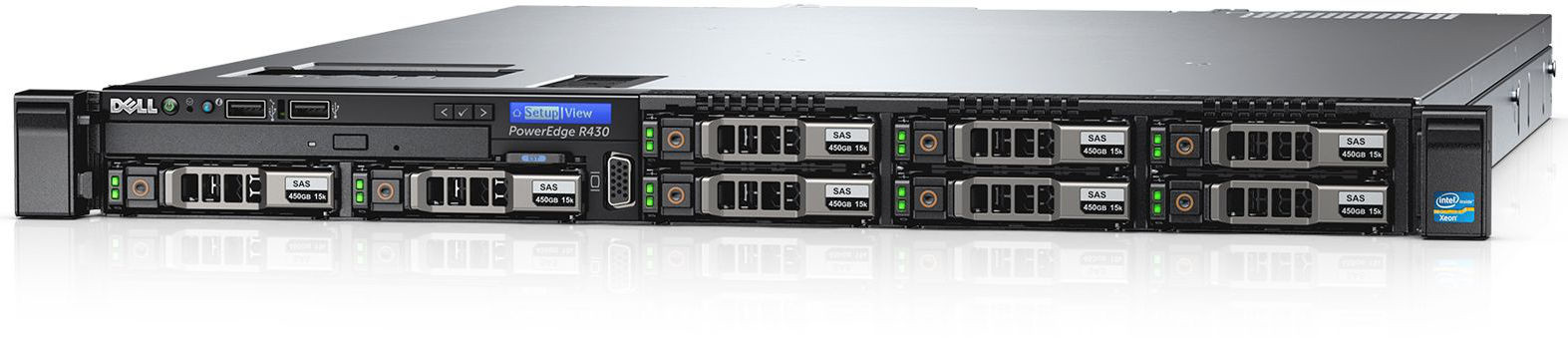 Server Dell PowerEdge R430 Procesor Intel Xeon E5-2620v3 2x1TB 8GB RAM Dual Hot Plug 550W