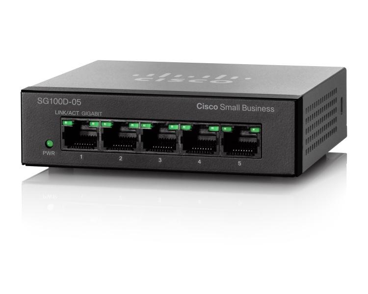 Switch Cisco SG110D-05 fara management fara PoE 5x1000Mbps-RJ45