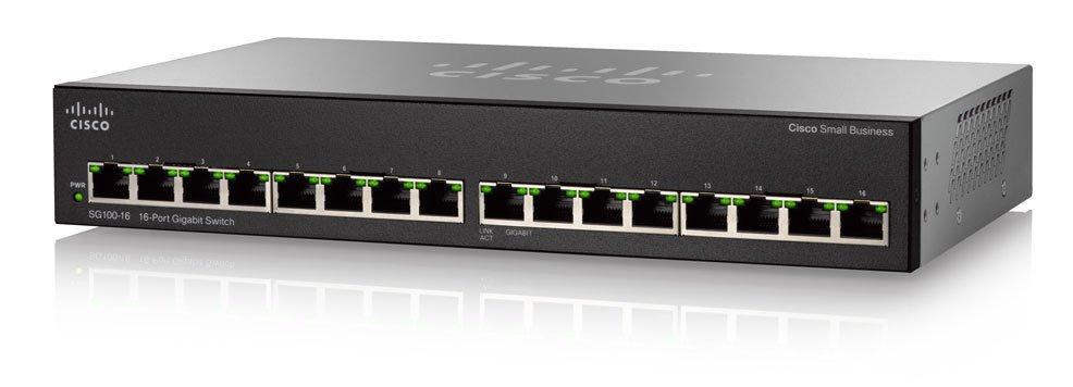 Switch Cisco SG110-16 fara management fara PoE 16x1000Mbps-RJ45