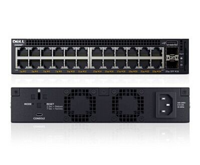Switch Dell X1026P cu management cu PoE 24x1000Mbps-RJ45 (PoE+) + 2xSFP