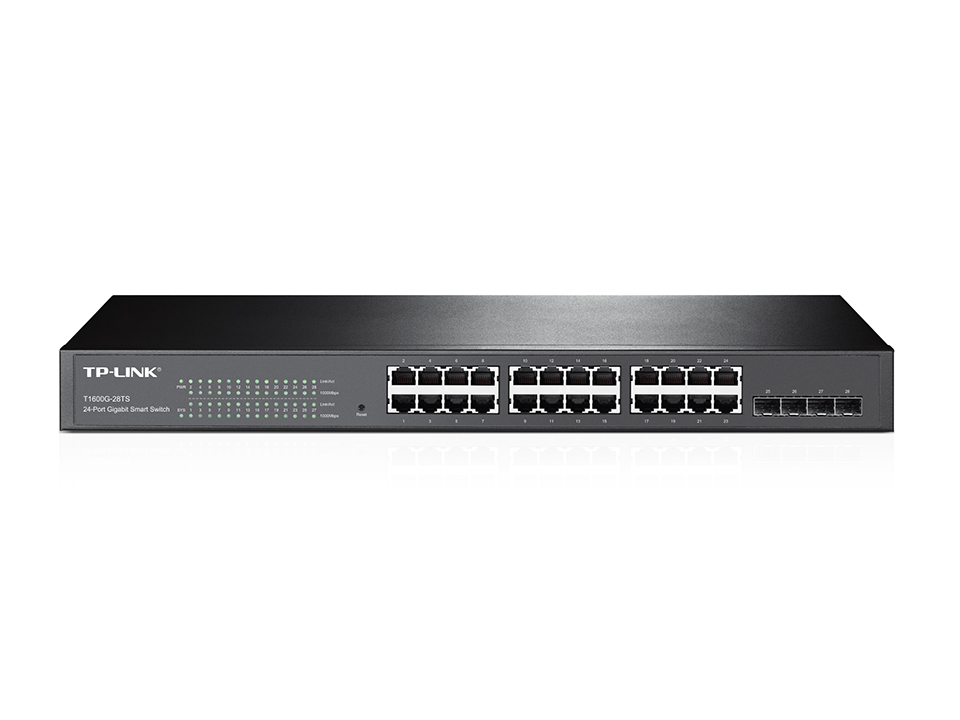 Switch Tp-Link T1600G-28TS cu management fara PoE 24x1000Mbps-RJ45 + 4xSFP