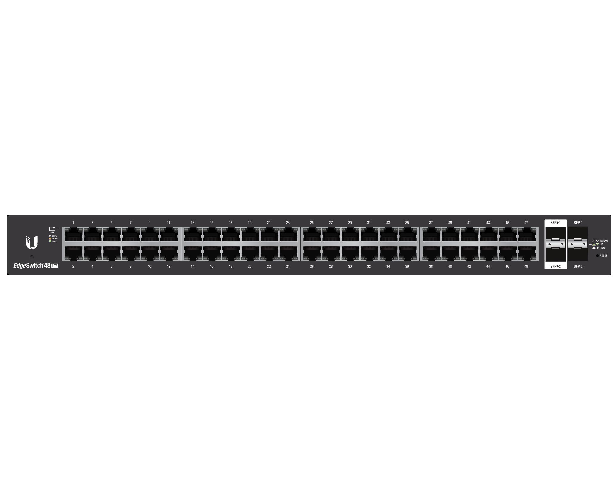 Switch Ubiquiti ES-48-LITE cu management fara PoE 48x1000Mbps + 2xSFP + 2xSFP+