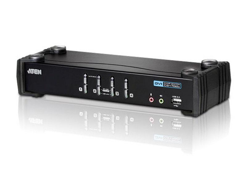Switch KVM Aten CS1764A nr de calculatoare conectate: rezolutie: 1920x1200