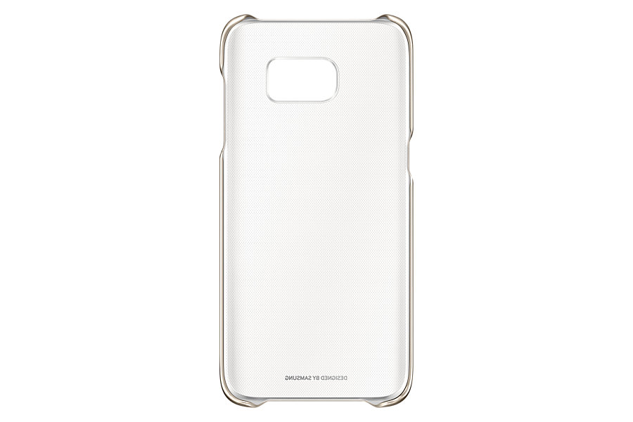 Husa Clear Cover pentru Samsung Galaxy S7 Edge G935 Auriu