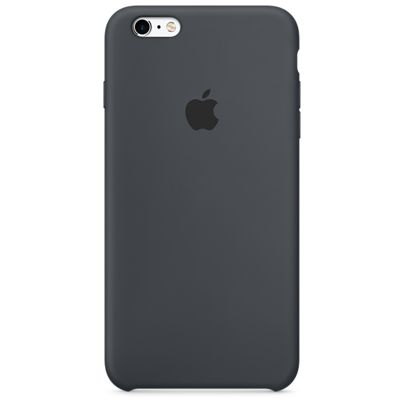 Husa Apple Silicone Case pentru iPhone 6s Negru Charcoal