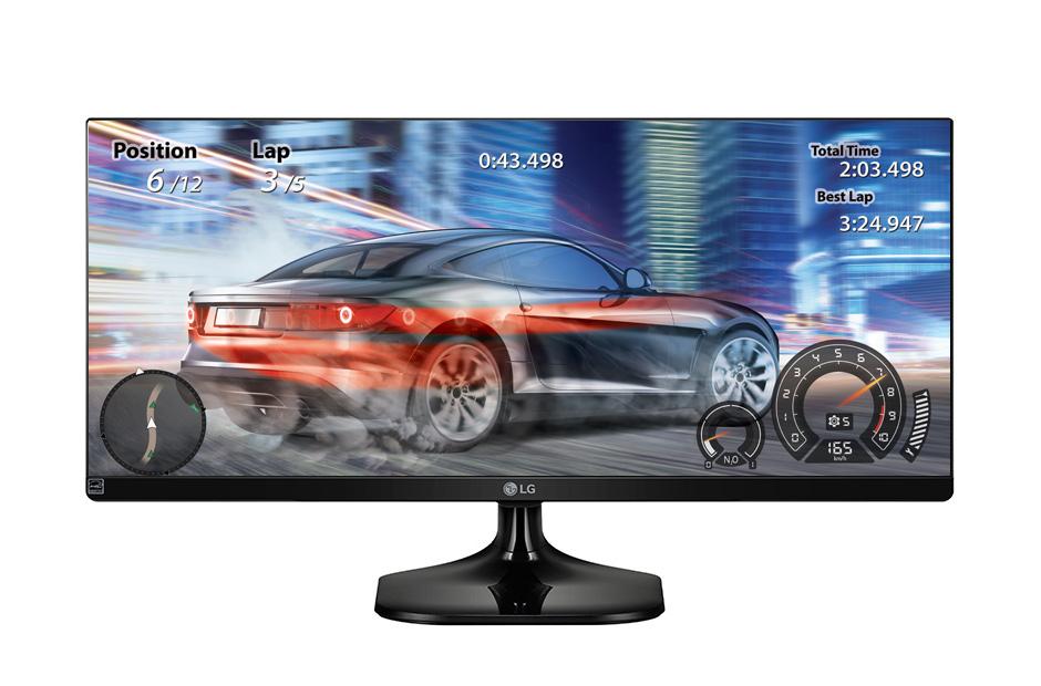 Monitor LED LG 25UM58-P 25 5ms 21:9 Full HD IPS HDMI Negru