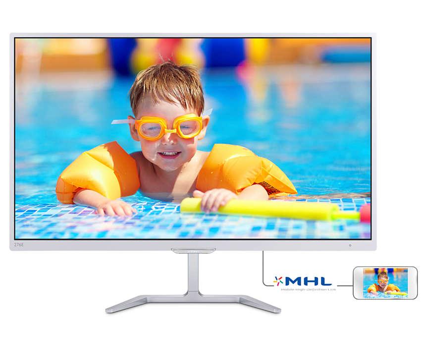 Monitor LED Philips E-line 276E7QDSW 27 5ms 16:9 Full HD D-Sub DVI HDMI Alb