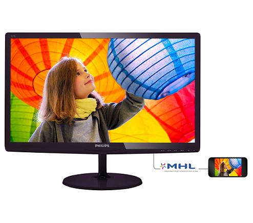Monitor LED Philips E-Line 227E6LDSD 21.5 16:9 Full HD DVI-D D-Sub HDMI Negru