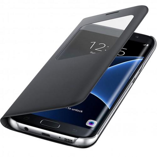 Husa tip S-View Galaxy S7 Edge (G935) Negru