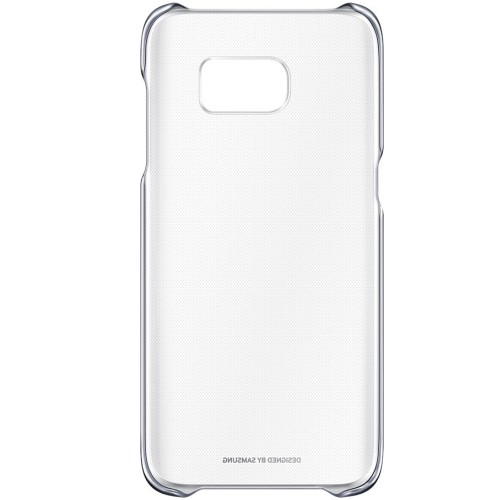 Capac protectie spate Galaxy S7 Edge (G935) Clear Cover - Negru