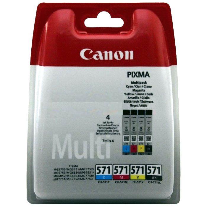 Pachet cartuse Inkjet Canon CLI-571 Multipack BCMY