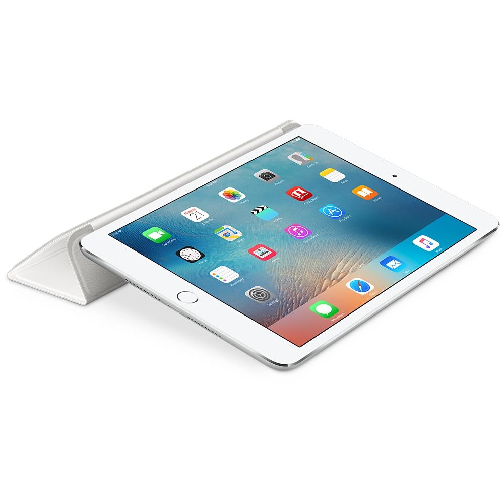 Husa Stand Apple Smart Cover pentru iPad mini 4 MKLW2ZM/A Alb
