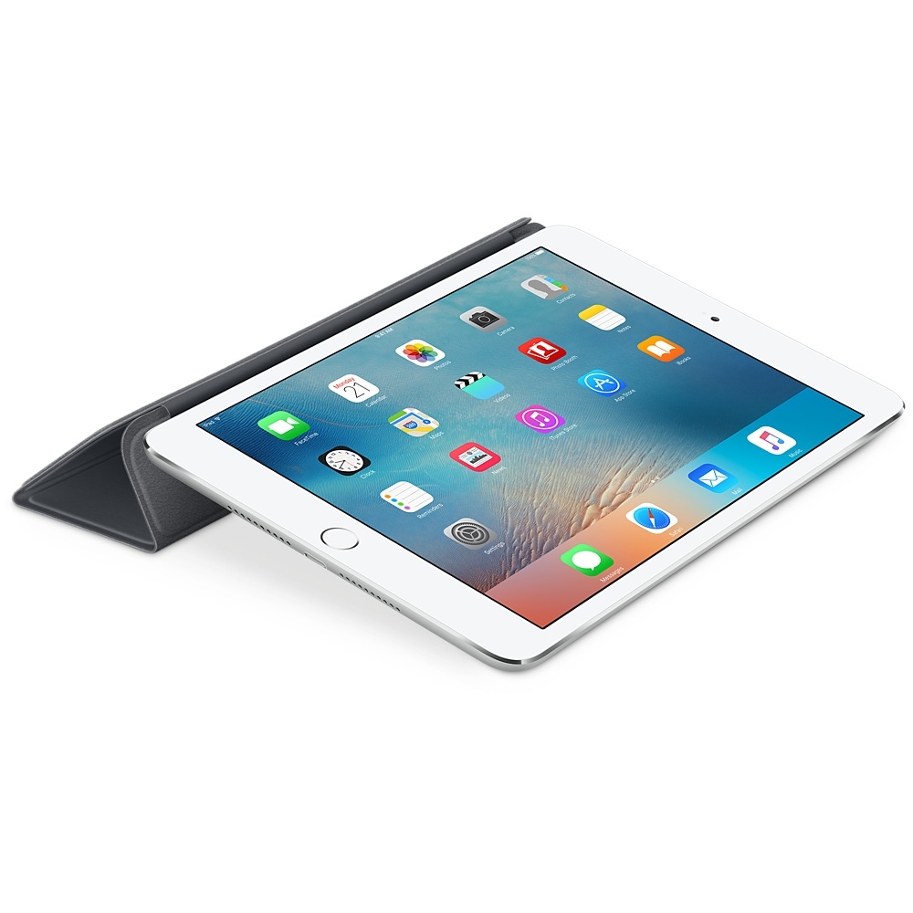 Husa Stand Apple Smart Cover pentru iPad mini 4 MKLV2ZM/A Gri inchis