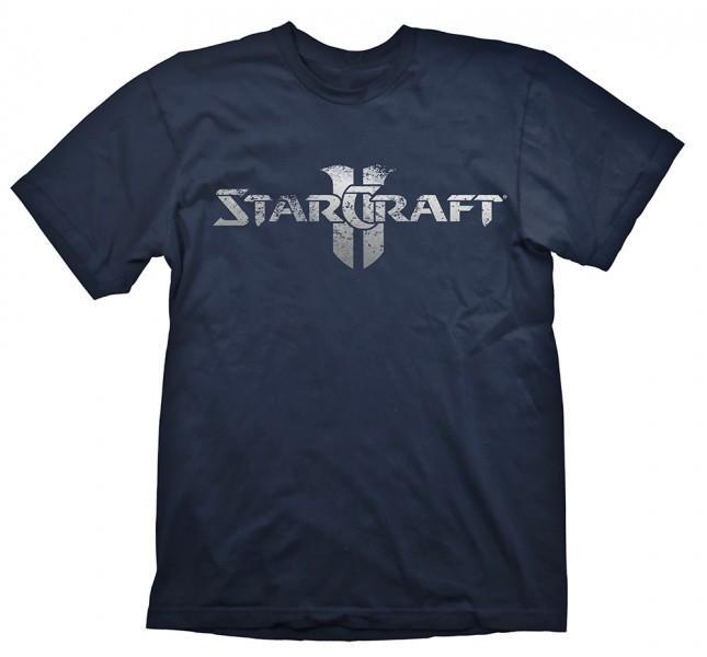 Tricou Starcraft 2 Logo Silver M