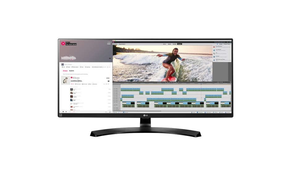 Monitor LED LG 34UM88C-P 34'' IPS 5ms 21:9 QHD HDMI DisplayPort USB 3.0 Negru