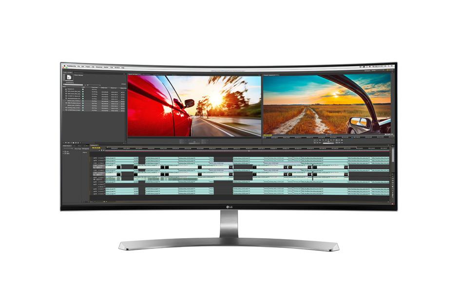Monitor LED LG 34UC98-W 34 IPS WQHD Curbat 5ms 21:9 HDMI DisplayPort USB Alb