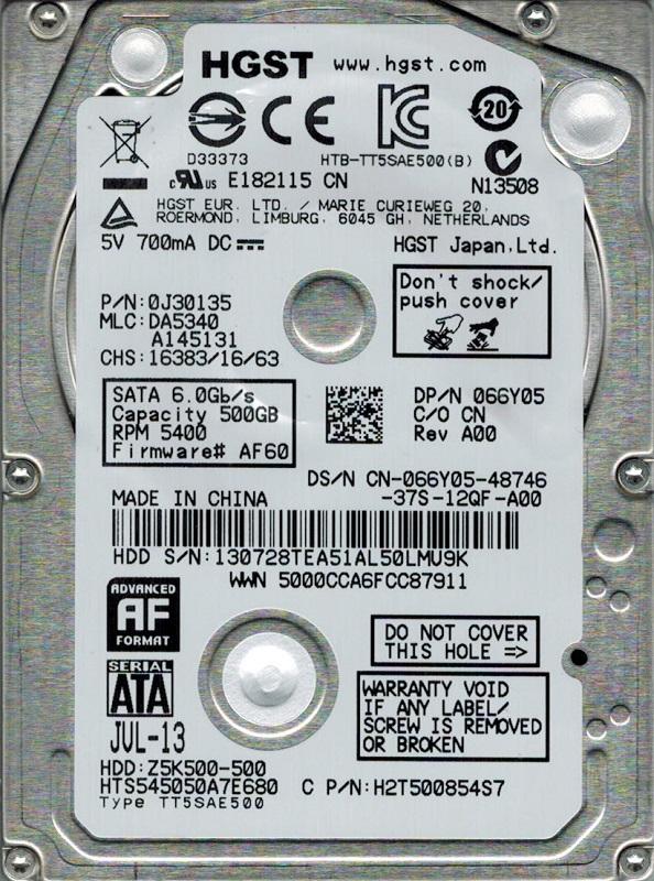 Hard Disk Notebook Hitachi Travelstar Z5K500 500GB SATA3 5400 rpm 8MB