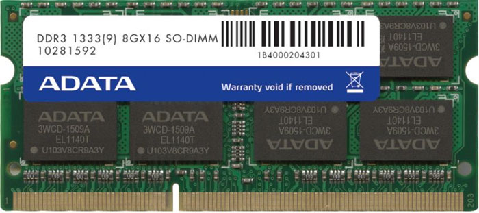 Memorie Notebook A-Data DDR3-1333 8GB CL9