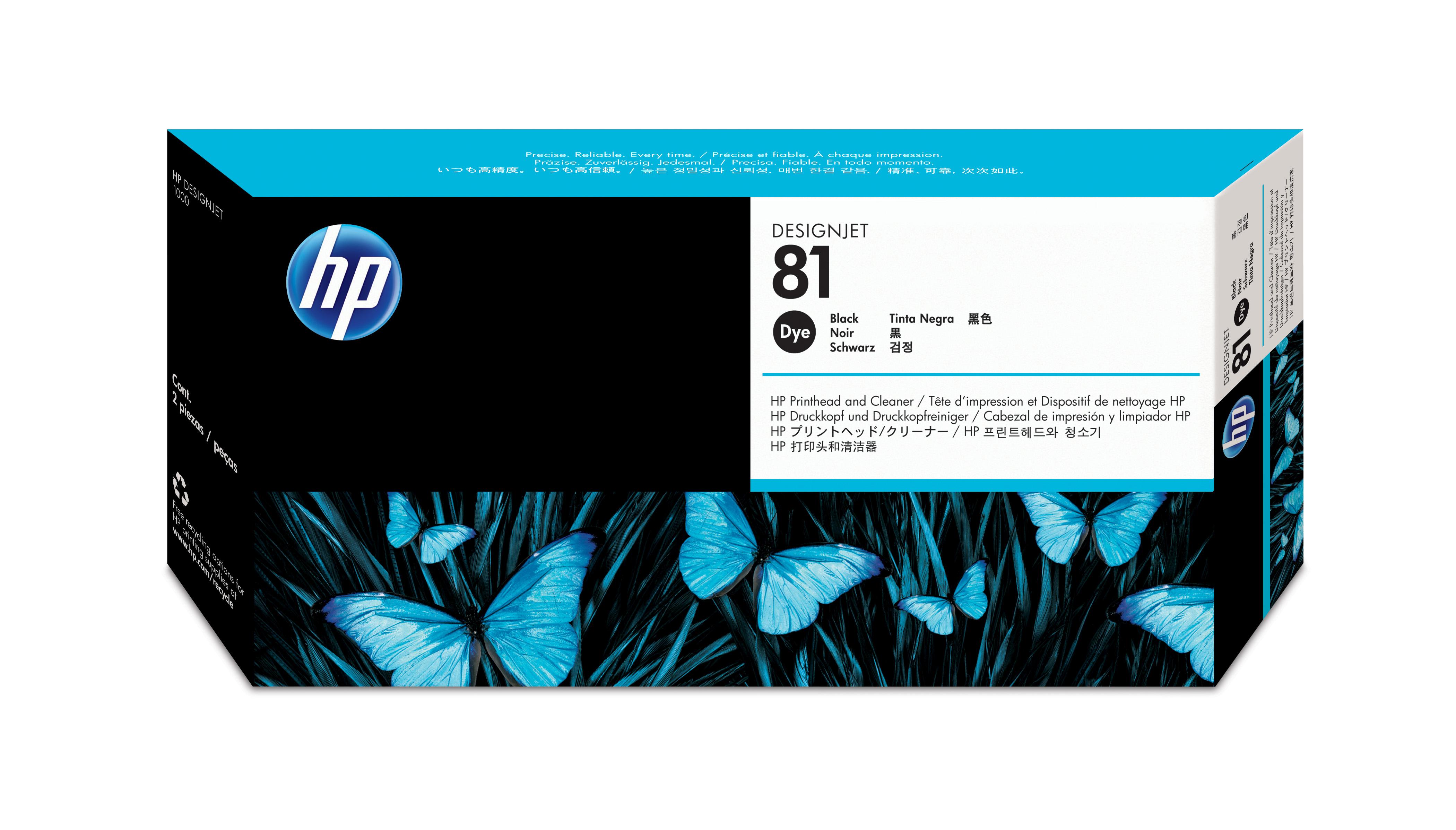 Cartus Inkjet HP 81 dye Black C4950A