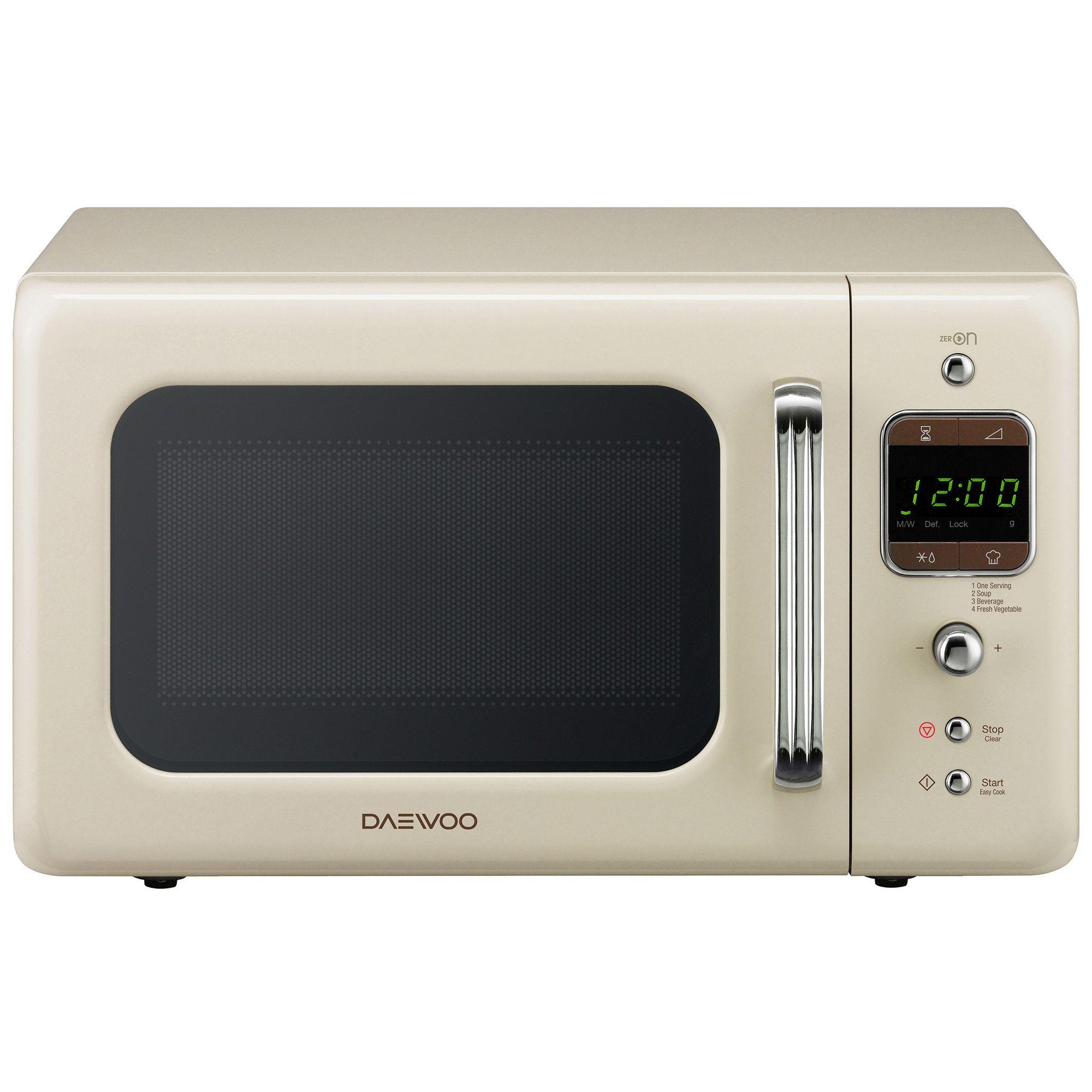 Cuptor cu microunde Daewoo Retro KOR-6LBRC 800W Digital Bej
