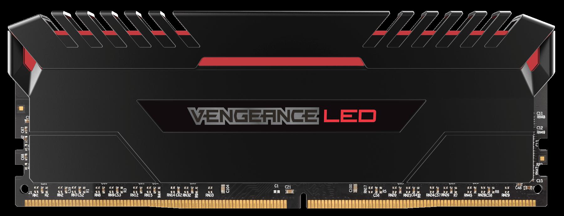 Memorie Desktop Corsair Vengeance LED 16GB (2 x 8GB) DDR4 3000MHz Red