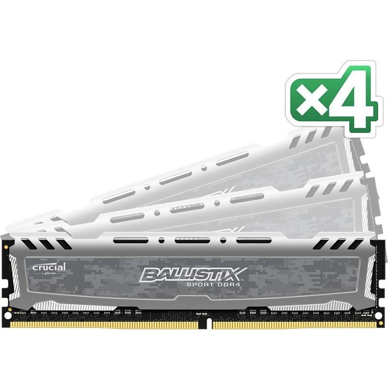 Memorie Desktop Micron Crucial Ballistix Sport LT 32GB (4 x 8GB) DDR4 2400MHz