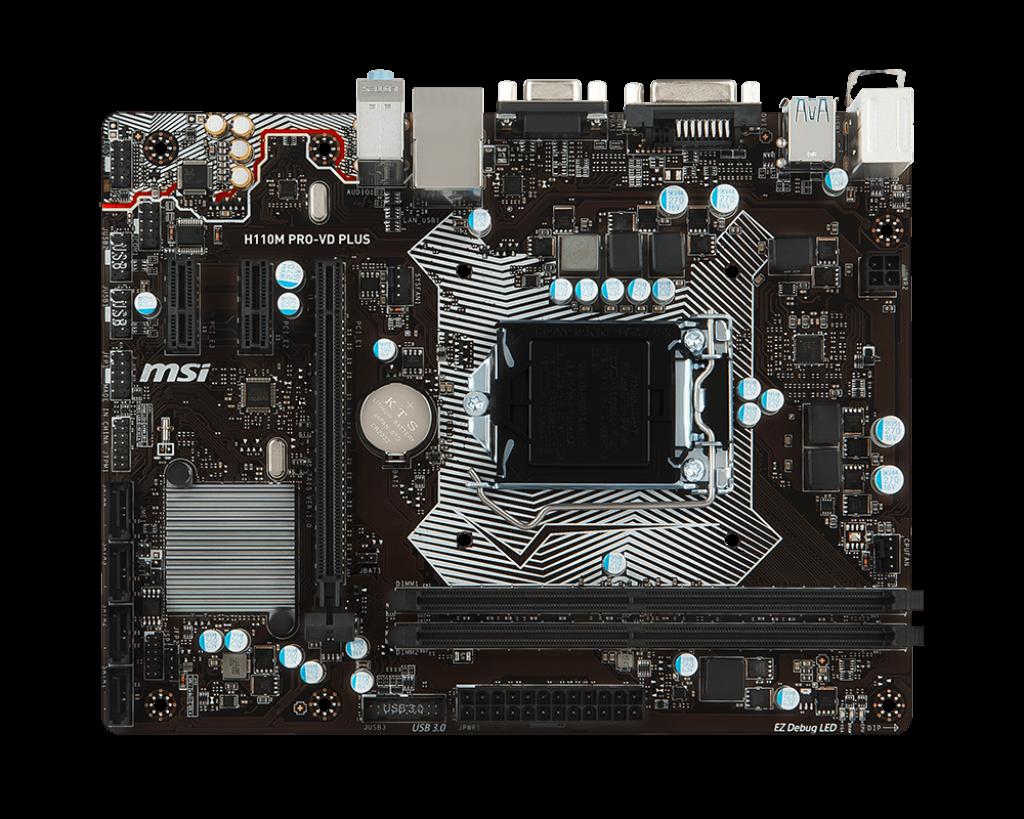 Placa de baza MSI H110M PRO-VD PLUS Socket 1151