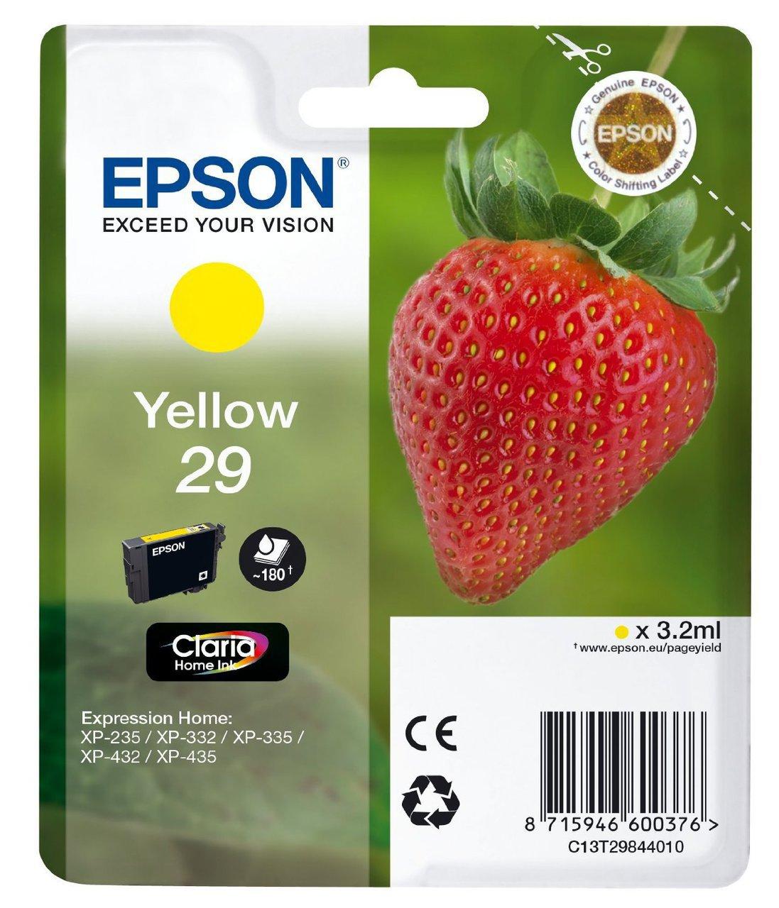 Cartus inkjet Epson nr. 29 Yellow