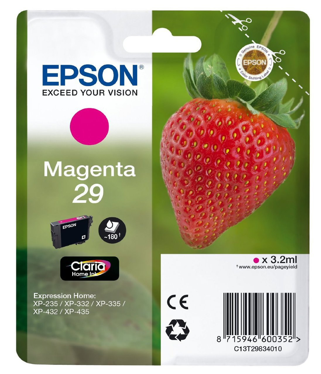 Cartus inkjet Epson nr. 29 Magenta
