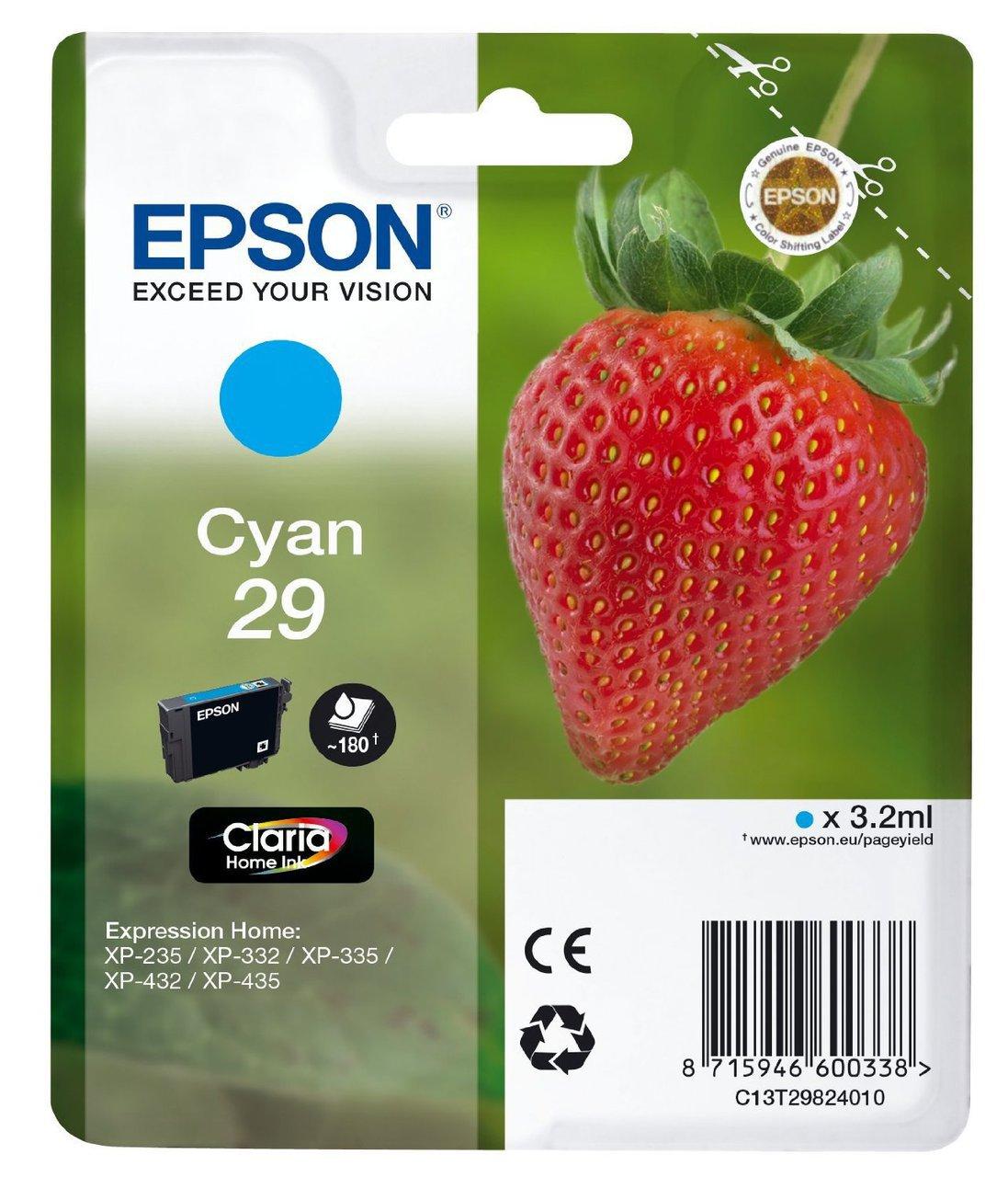 Cartus inkjet Epson nr. 29 Cyan