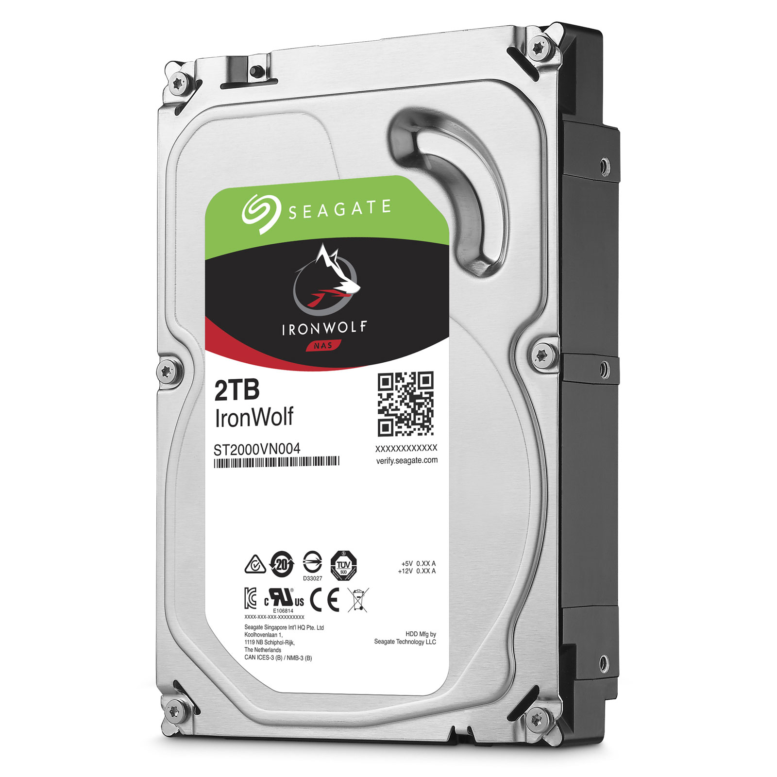 Hard Disk Desktop Seagate IronWolf 2TB 5900RPM 64MB SATA III